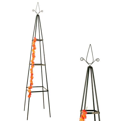 rosenpyramide pergola rankhilfe garten metall rankgitter obelisk rosen gr n ebay. Black Bedroom Furniture Sets. Home Design Ideas