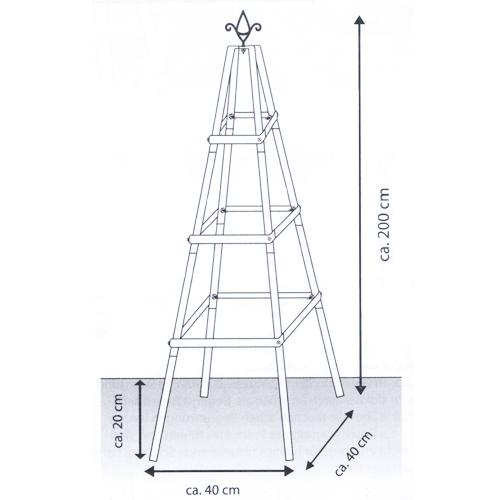 Schön Rosenpyramide Pergola Rankhilfe Garten Metall Rankgitter Obelisk  WQ24
